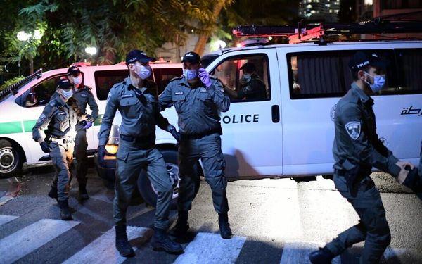 حمله خشونت آمیز به معترضان به نتانیاهو در تل آویو