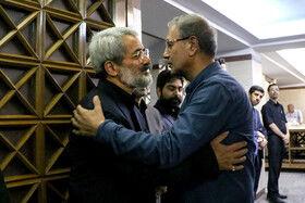 علی ربیعی سخنگوی دولت در مراسم ختم دختر عباس سلیمی نمین