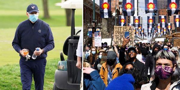 گلفبازی رئیس جمهور در اوج اعتراضات داخلی