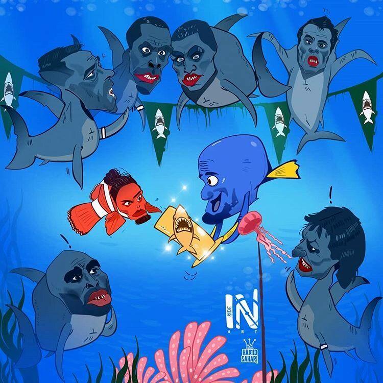 شاه ماهی لیگ برتر جزیره را ببینید!