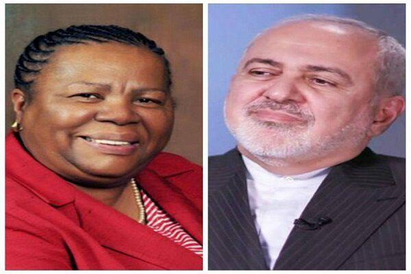 گفتگوی تلفنی ظریف و وزیر امورخارجه آفریقای جنوبی