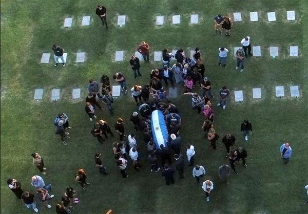 تصاویری از مراسم خاکسپاری مارادونا