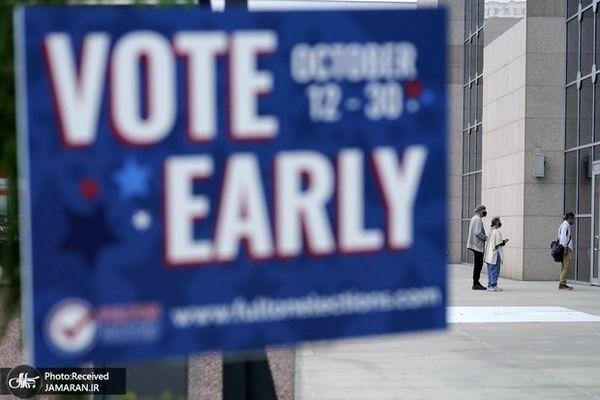 رای گیری زودهنگام انتخابات ریاست جمهوری آمریکا + تصاویر