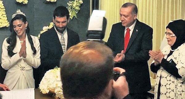 حضور اردوغان  در مراسم عروسی آردا توران