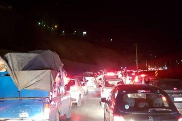 ترافیک در آزادراه تهران – کرج سنگین است