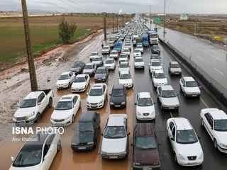 وضعیت تهران پس از بارش باران
