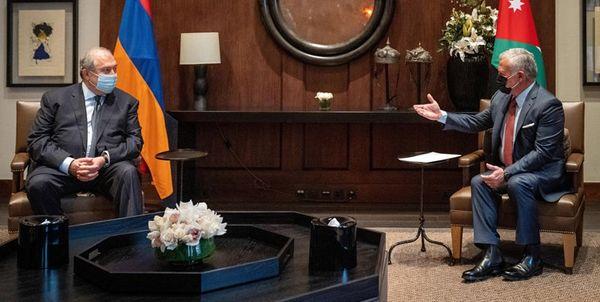 دیدار رئیسجمهور ارمنستان با شاه اردن