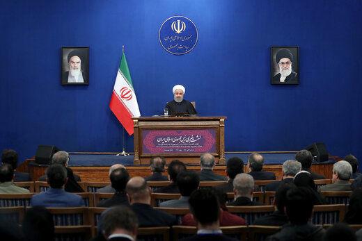 روحانی: تلاشم تحویل دولت بدون تحریم است/ نه ناامید شدم نه کار را متوقف کردهام/ کاری ندارم مجلس بعدی در دست کدام جناح باشد /۱۱