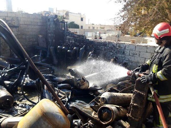 جزئیات انفجار و آتش سوزی گسترده در شیراز