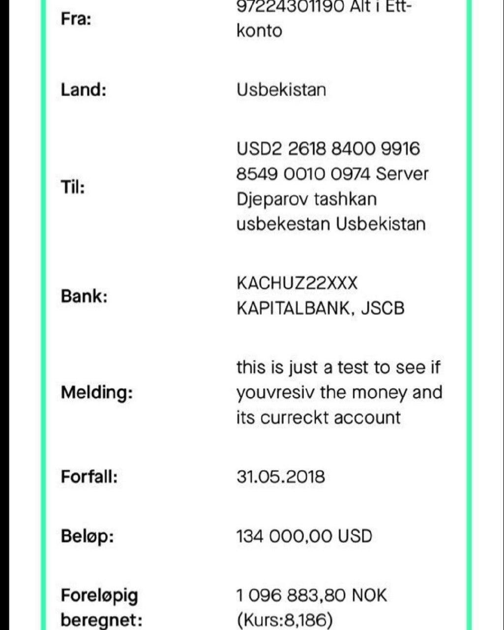 سند جعلی پرداخت پول جپاروف از سوی استقلال (+عکس)