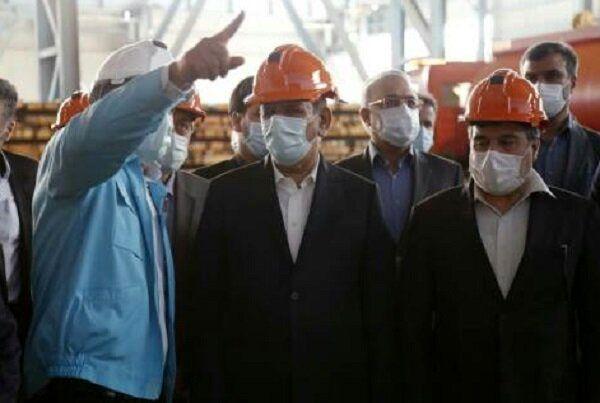 بهرهبرداری از مرحله دوم فولادسازی شرکت فولاد کاوه جنوب کیش با حضور جهانگیری