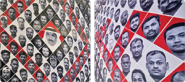عکس کارگران در ورزشگاه افتتاحیه جامجهانی