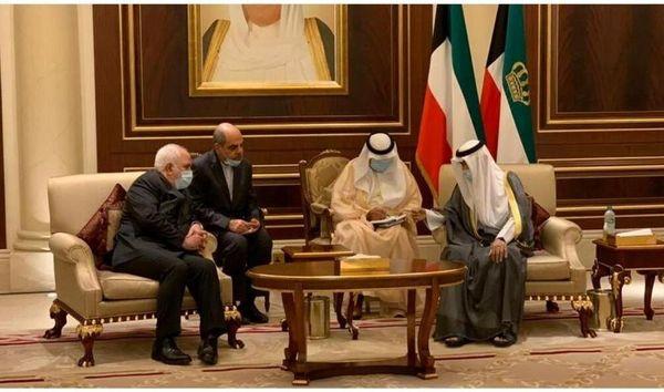 ظریف با امیر جدید کویت دیدار کرد