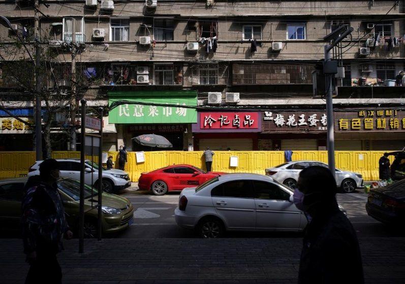 نمایی ز مرزبندی پلاستیکی در ووهان چین