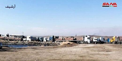 انتقال 18 کامیون گندم سرقت شده از سوریه به عراق