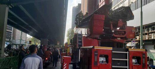 حادثه در یک مرکز تجاری واقع در خیابان جمهوری، تقاطع خیابان حافظ