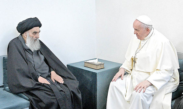 دیدار تاریخی پاپ و آیتالله