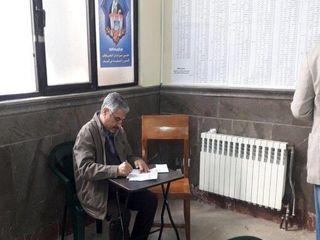 حضور چهره های سیاسی پای صندوق رای