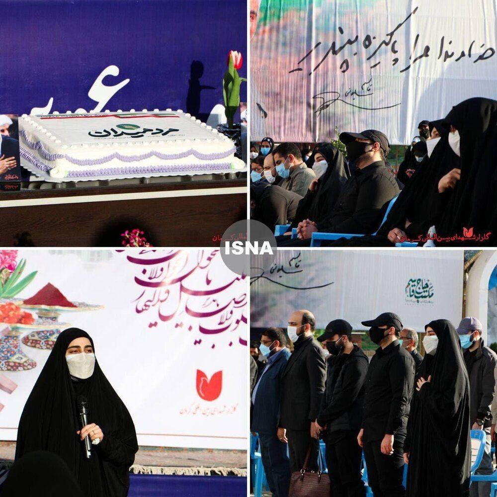 دختر و پسران سردار سلیمانی در مراسم تولد پدر شهید +عکس