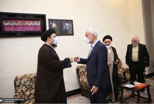 دومین کاندیدای ریاست جمهوری به دیدار سیدحسن خمینی رفت+عکس