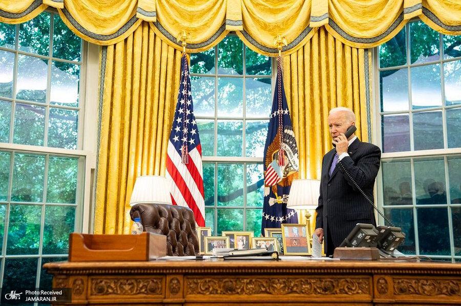 عکس عجیب اتاق رئیس جمهور آمریکا