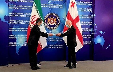 دیدار سفیر جدید ایران با وزیر امور خارجه گرجستان