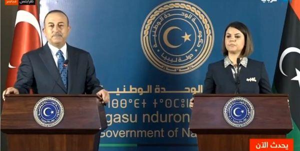 وزیران خارجه ترکیه و لیبی دیدار کردند