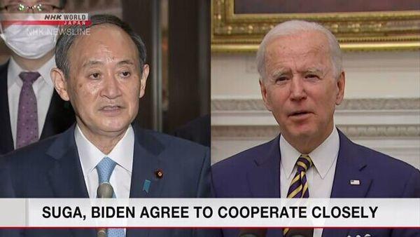 اولین تماس نخستوزیر ژاپن با جو بایدن