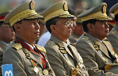 تحریم ژنرالهای دولت میانماراز سوی انگلیس