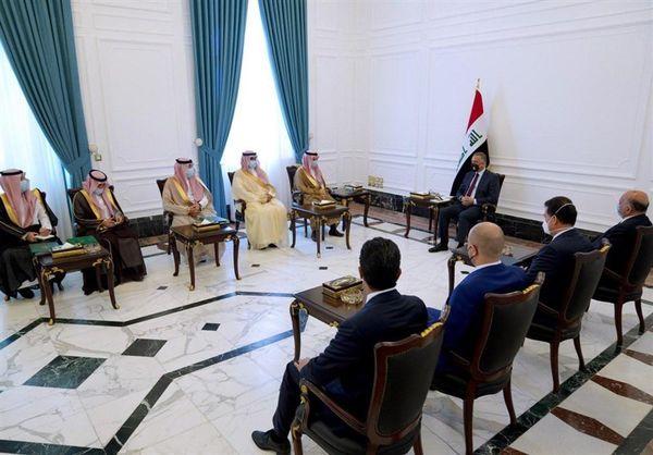 دیدار وزیر خارجه سعودی با نخست وزیر عراق