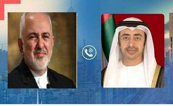 گفتگوی تلفنی ظریف با وزیر خارجه امارات