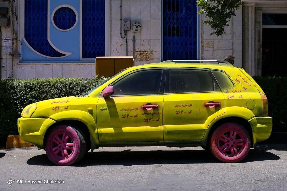 عکس | عجیبترین تبلیغ خیابانی انتخابات ۱۴۰۰