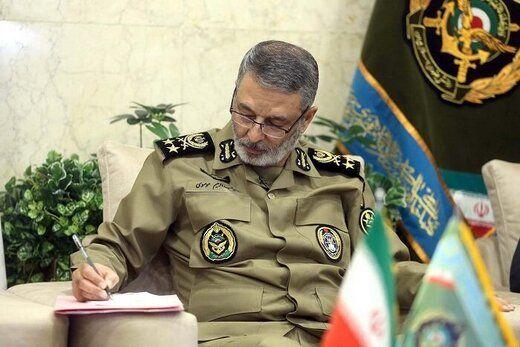 پیام تشکر فرمانده کل ارتش از رهبر انقلاب