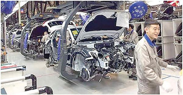 از سرگیری فعالیت خودرویی چین