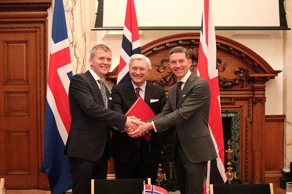 امضای توافقنامه تجاری میان انگلیس، نروژ و ایسلند