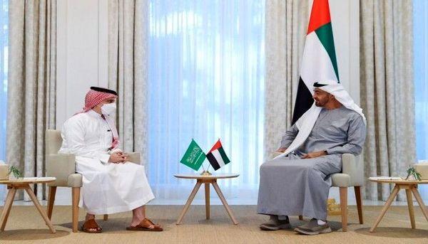دیدار و گفتگوی وزیر خارجه عربستان با ولیعهد ابوظبی