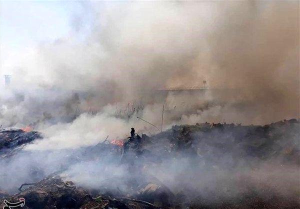 آتش سوزی خطرناک  بیخ گوش زندان قزلحصار+عکس