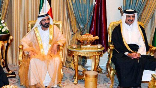 نخستین تماس تلفنی امیر قطر با حاکم دبی
