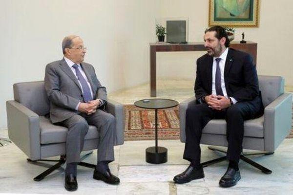 توقف مذاکرات حریری و عون درباره تشکیل دولت لبنان