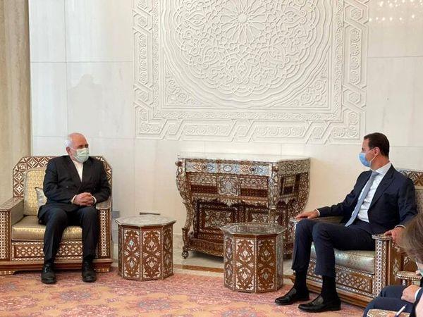 اعلام حمایت ایران از انتخابات سوریه در دیدار ظریف با بشار اسد