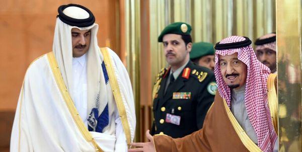 شاه سعودی به امیر قطر پیام داد