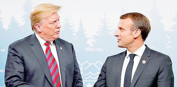 توافق ترامپ و مکرون بر سر ایران
