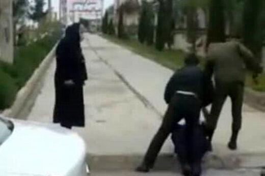 عذرخواهی نیروی انتظامی از کتک زدن یک جانباز توسط یک مامور+فیلم