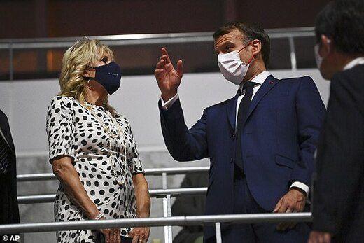 جیل و مکرون، رئیس جمهور فرانسه، در مراسم افتتحایه صحبت کردند.