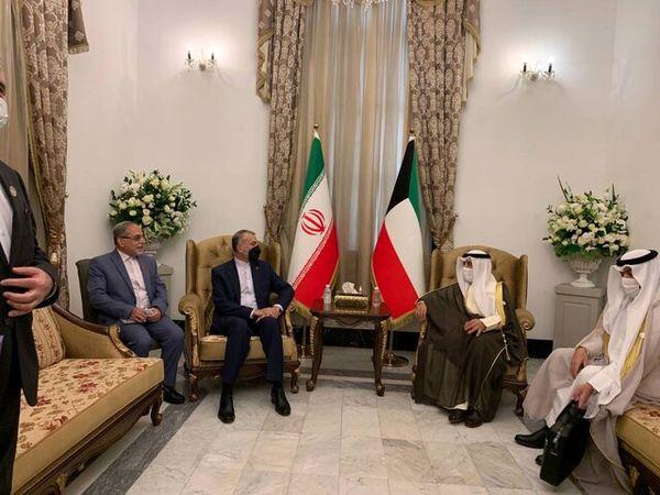دیدار وزرای امور خارجه ایران و کویت