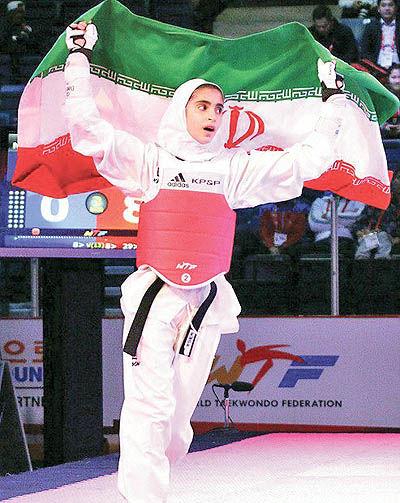 درخشش دختر نوجوان تکواندوکار ایرانی