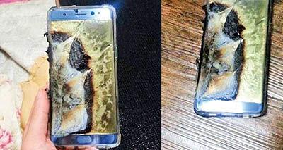 آتشگرفتن باتری مانع رونمایی از نوت7 در چین نشد