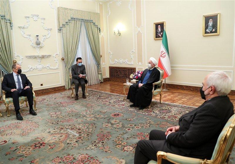 دیدار وزیر امور خارجه روسیه با روحانی/ تصاویر