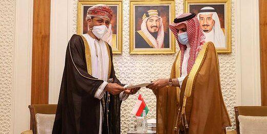 پیام مکتوب سلطان عمان به شاه سعودی
