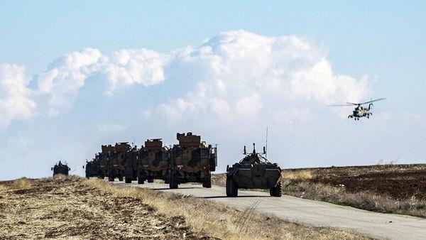 تمرین مشترک نظامیان روسیه و ترکیه در ادلب سوریه